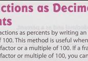 Fractions as Decimals and Percents
