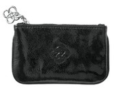 SoHo Key Pouch-Black Patent