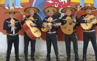 Mariachi band who support the machine