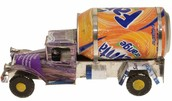This is a truck made out of a recycled object