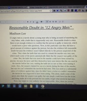 """Essay On """"12 Angry Men"""""""