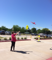 Flying a kite at KPS