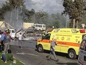 מכוניות הפוכות לאחר התאונה