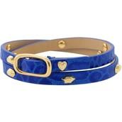 Hudson Leather Wrap Bracelet - Blue $17