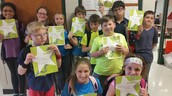 All our students that had 98% attendance or higher for April!!
