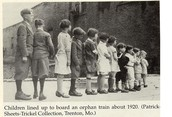 Who were the orphan train riders?