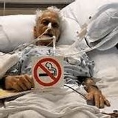 A person with lung cancer