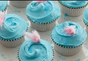 NEW! Cotton candy cupcakes