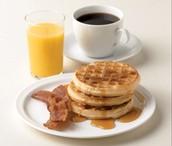 Los gofres desayuno