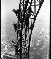 Workers on the Eiffel Tower