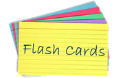 Flashcards are a great way to intake and store information.