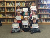 Kindergarten, 1st and 2nd Grade Student of the Month Winners!