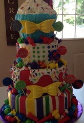 My nieces Candy Land cake!