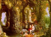 A Fantastic cave with Odysseus and Calypso
