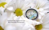 Large Silver Living Locket w/ Crystals