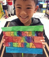 Third Grade: Rainbow names