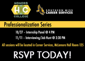 The 2015 Professionalization Series - Don't forget to RSVP