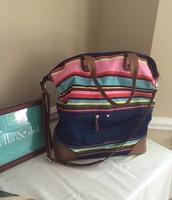 Getaway bag- Multi Stripe