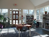 Front room of the beautiful new Upper Elementary!