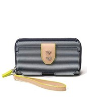 Madison Tech Wallet Navy Stripe