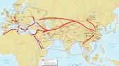 Plague's trade routes