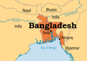 Where is Bangladesh located