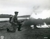 Example of flame thrower