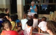 Teaching at Sandy's house