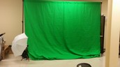 New Green Screen Kit for teacher and student use thanks to TAG