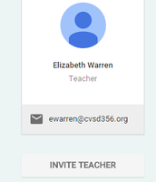 "On your ""About"" Page you can click INVITE TEACHER"