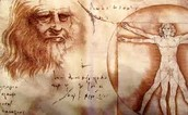 Notebook Self Portrai & Vitruvian Man