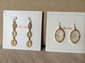 Kimberly Drop Earrings and Fiona Earrings (white)