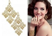 Chantilly Lace Gold Earrings $20.00