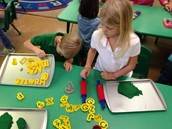 Making our names out of Play Doh (Enrichment)