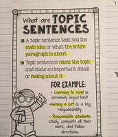What are Topic Sentences?