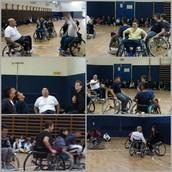 """"""" נצחון החיים"""" - מפגש עם שחקני כדור- סל נכים הנעזרים בכסאות גלגלים המעבירים מסרים מצילי חיים"""