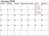 Important dates....