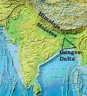 Placement of the Ganges Delta and the Himalayan Molasses