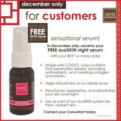 FREE night serum with $95+ order
