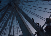 The ferris wheel in Divergent that Tris climbs