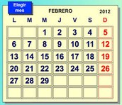 Days of the week & month of the year