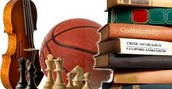 Students are involved in different extracurricular activities.