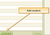 """Click """"Add Student"""""""
