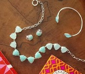 Somerville Necklace - silver/aqua stones