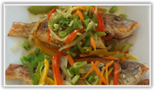 Escovitch Snapper $12.00 & up