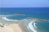 The Sea shore of  Tel Aviv