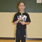 Lola Beightol 3rd Grade Girls Champion!