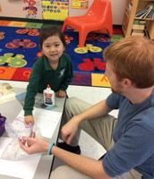 Mr. Alex and Chelsea writing about winter