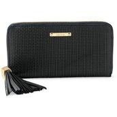 Mercer Wallet - Black Basket Weave