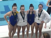 2nd in 200 Free Relay